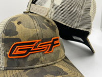 GSP Outdoors Camo Snapback Hat - Hunter Orange