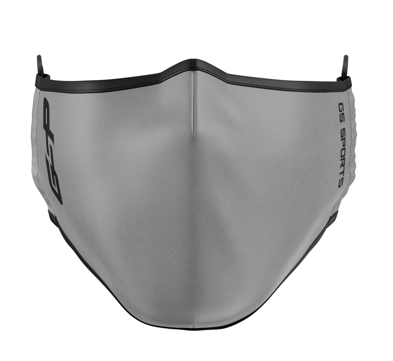 GSP Dual Layer with Filter Pocket Mask (Overhead Dual Straps) - Grey (Available in Youth)