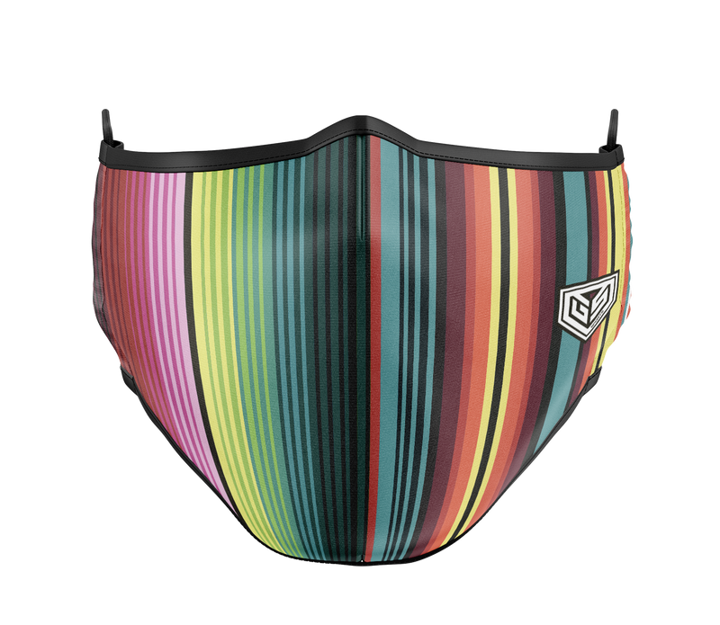 GSP Dual Layer with Filter Pocket Mask (Overhead Dual Straps) - Stripes
