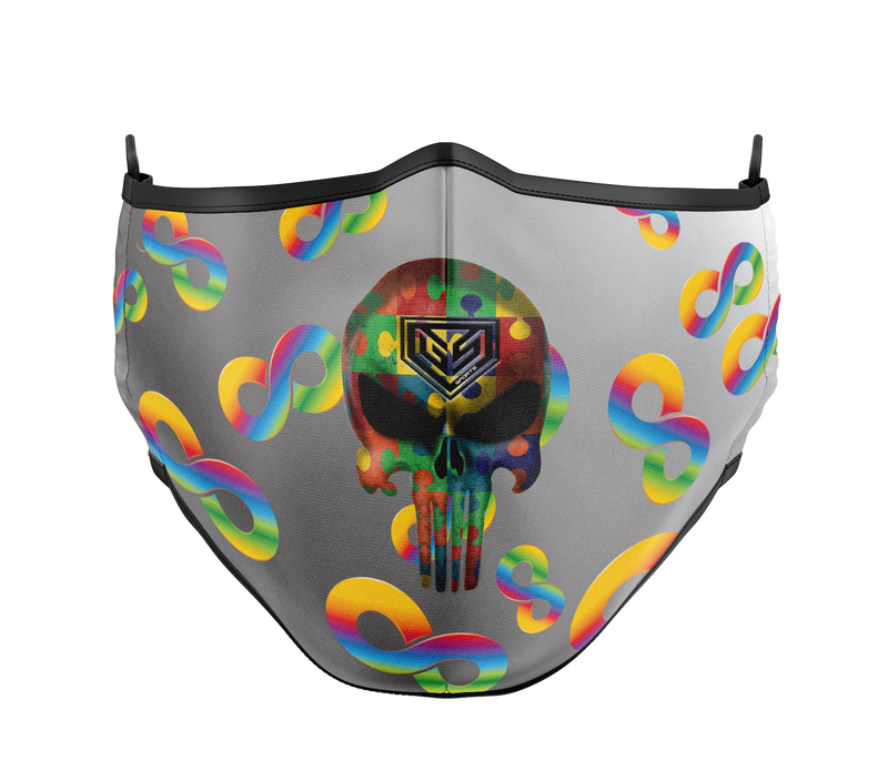 GSP Dual Layer with Filter Pocket Mask (Overhead Dual Straps) - Infinity Punisher Autism