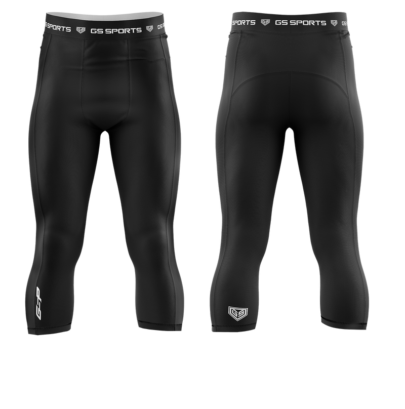 GS Sports Men's 3/4 Compression Tights