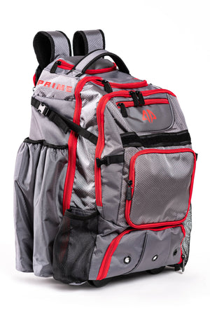 Alpha Prime Series II Roller Bat Backpack - Grey / Red