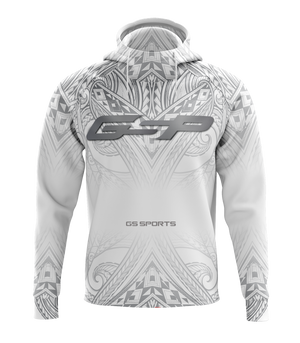 GS Sports Fleece Scuba Neck Hoodie - GSP White Polynesian