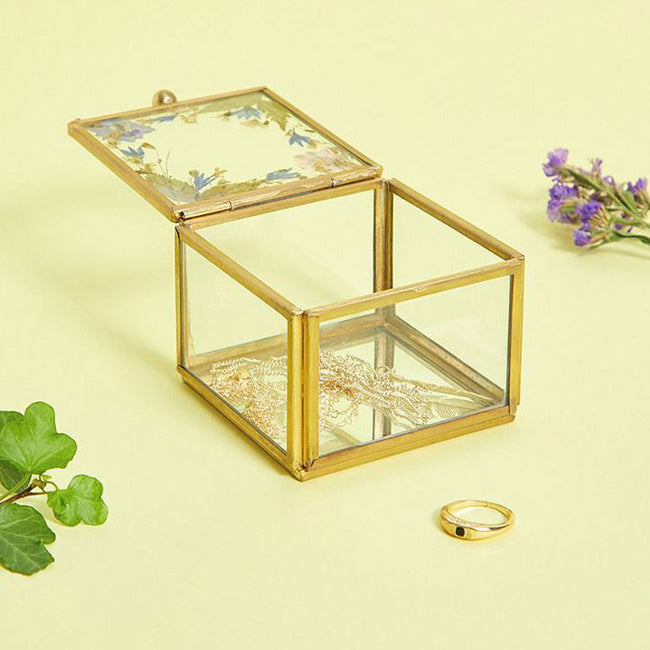 Small Pressed Flower Jewellery Box