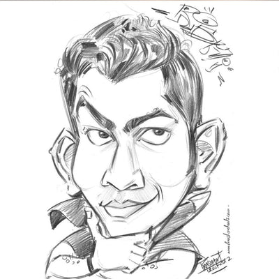 Digital Pencil Caricature for 1 Person
