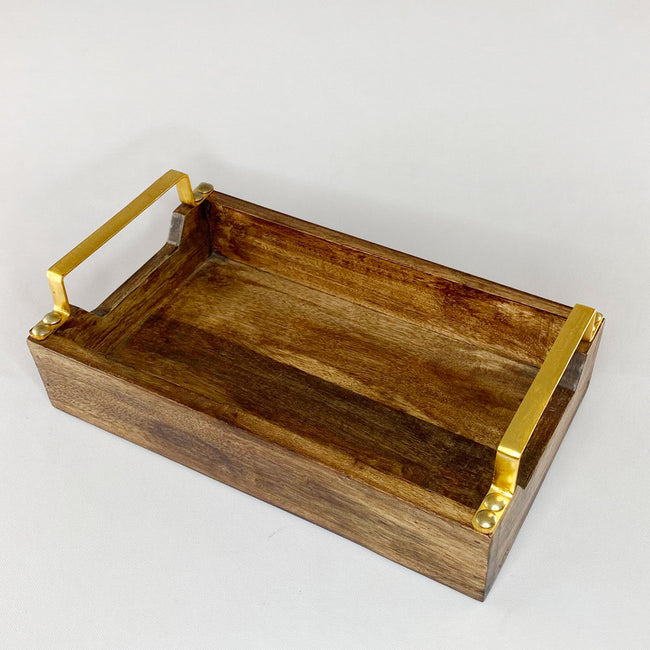 Wooden Serving Tray-Gold Series