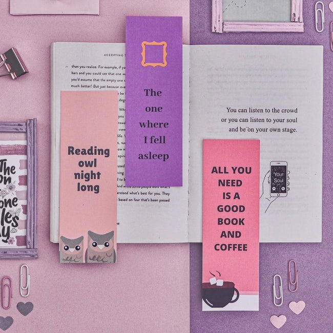 Quirky Bookmarks- Set of 3