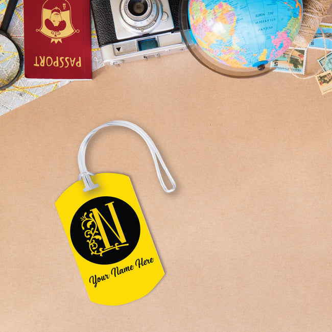 Initials and Name Luggage Tag