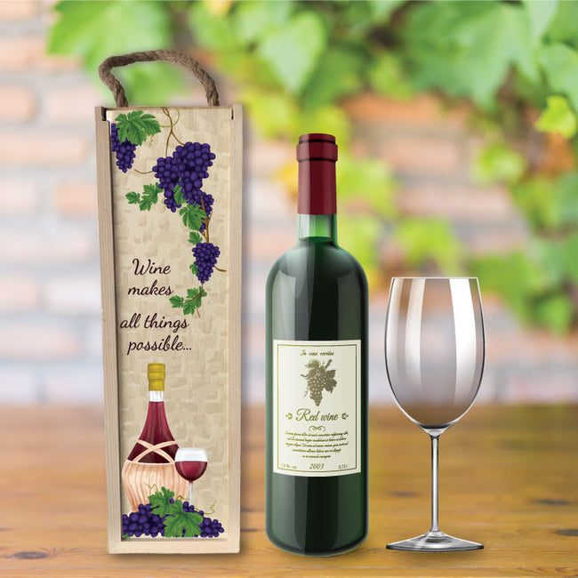 Wine makes everything possible gift box