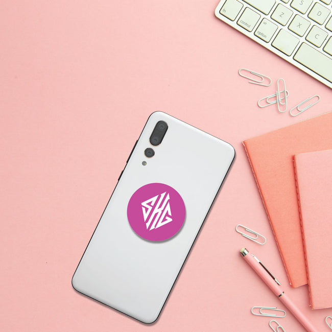 Diamond Monogram Pop Socket