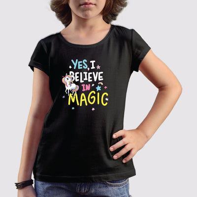 Believe in Magic Girls T-Shirt