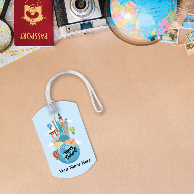 Time to Travel Luggage Tag