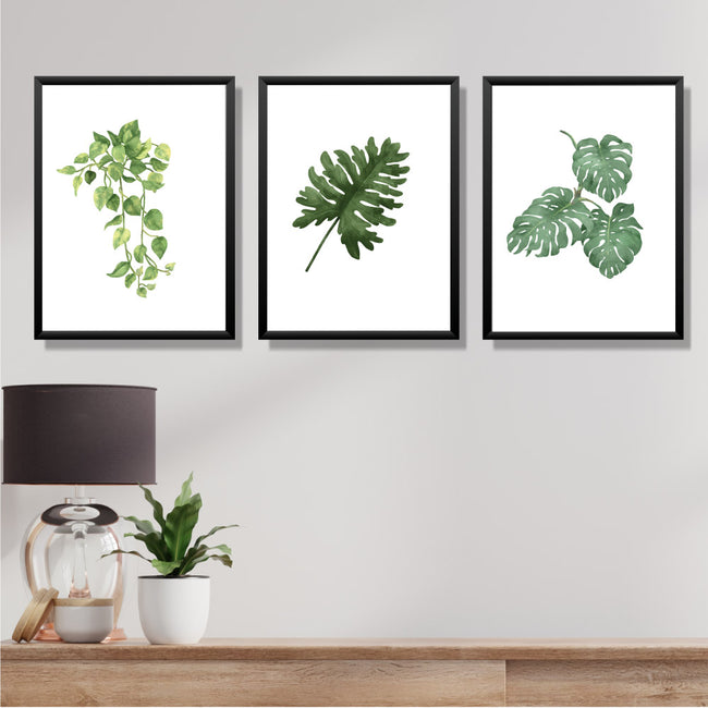 Leaves on Poster- Set of 3