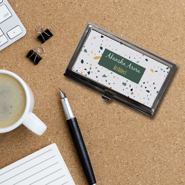 Name and Text Business Card Holder