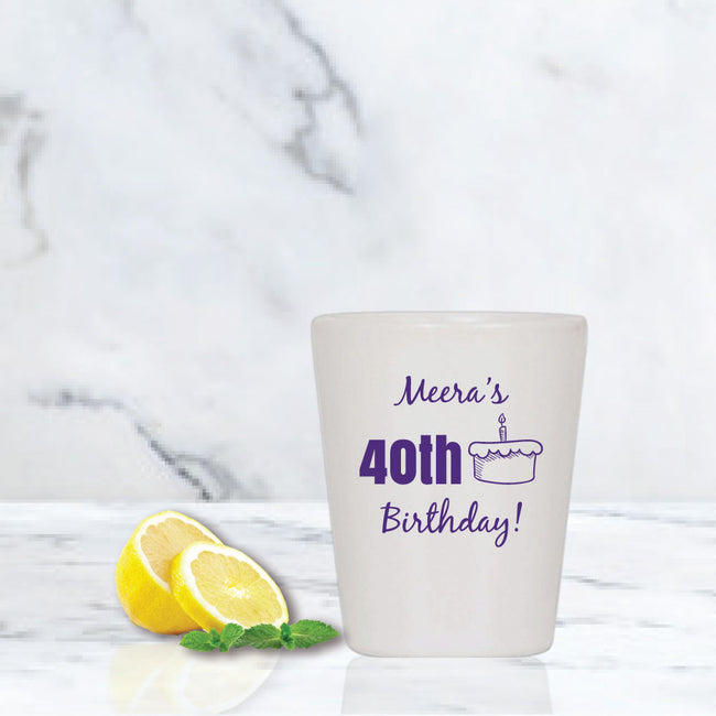 Milestone Birthday Shot Glass
