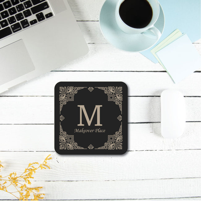 Initial & Your Text Coaster