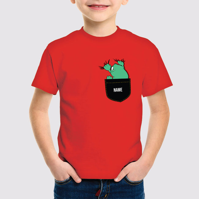 Pocket Design Print Boys T-Shirt
