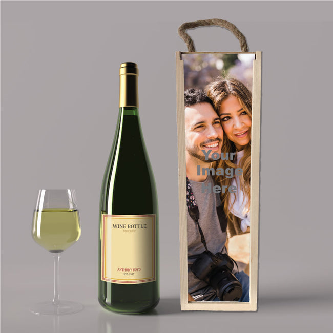 Wine box with your own photos