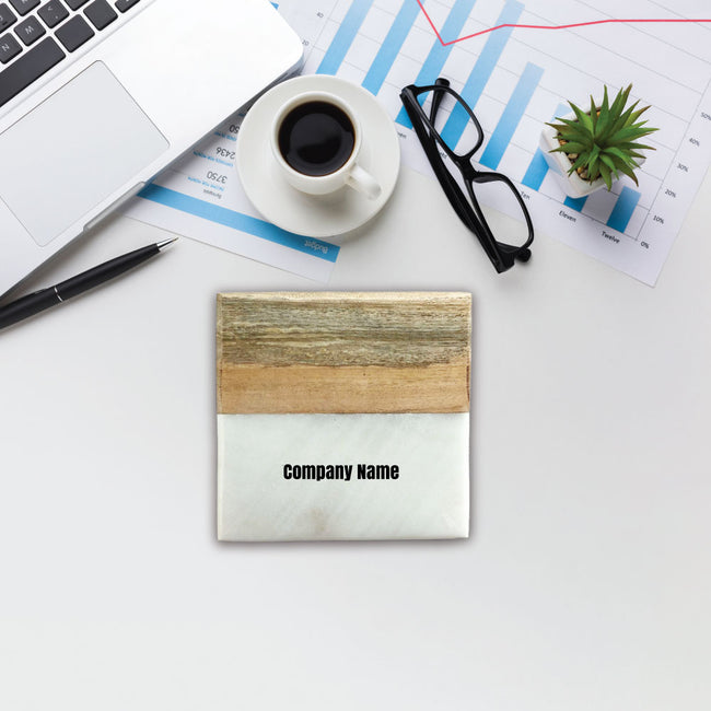 Company Name Marble & Wood Coasters