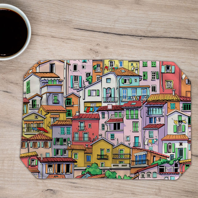 Placemats Colourful Houses- (Set of 6)