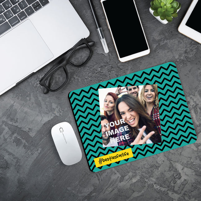 Hashtag and Photo Mouse Pad