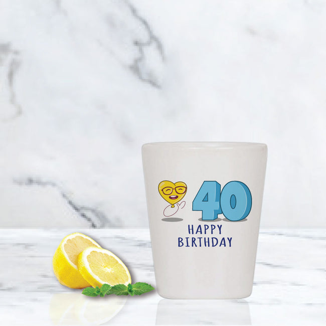 20th-100th Milestone Shot Glass