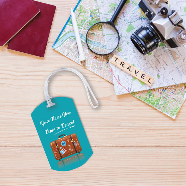 Travel Time Luggage Tag