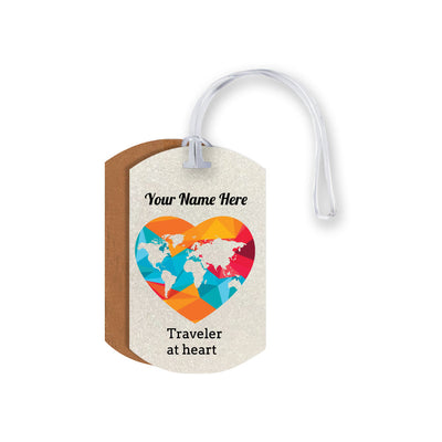Traveler at Heart Luggage Tag