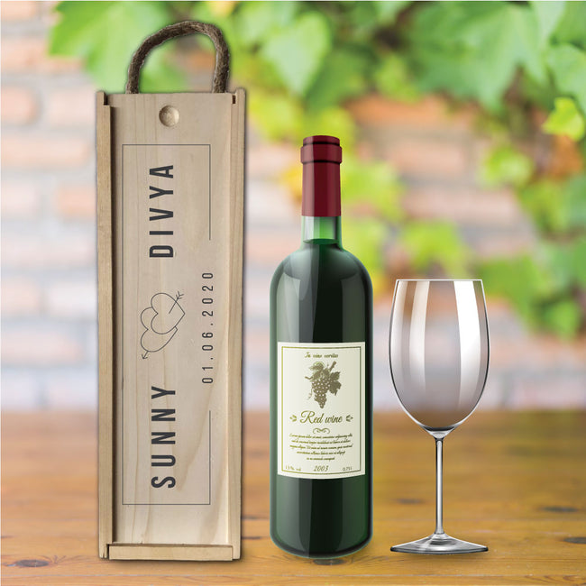 Keepsake Wine Box