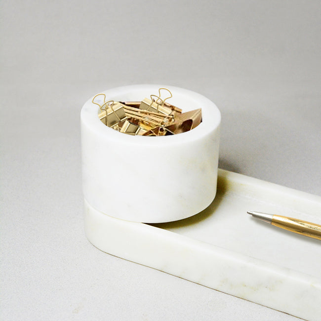 Marble Knick-Knack Holder- Desk Accessory Series