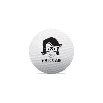 Geek Face Golf Ball