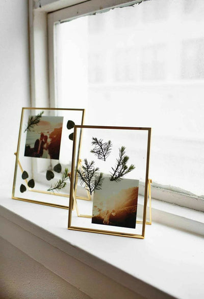Golden Glass Photo Frame