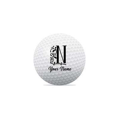 Your Name Initial Golf Ball