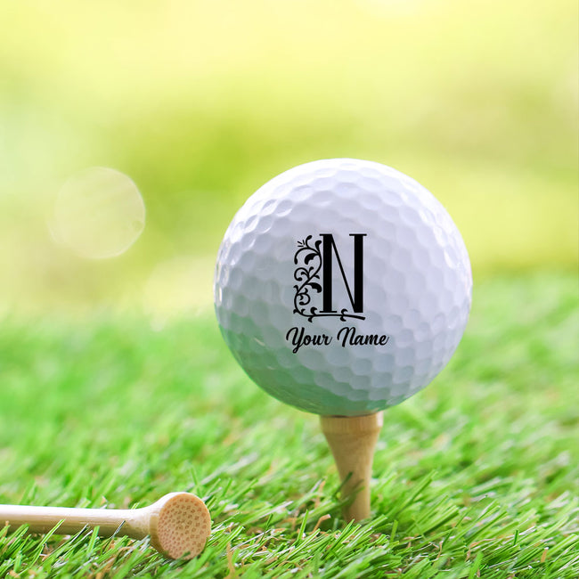 Leaf Monogram Golf Ball