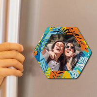 Colorful Pattern Photo Magnet