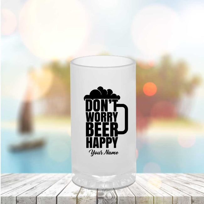 Be Happy Beer Mug