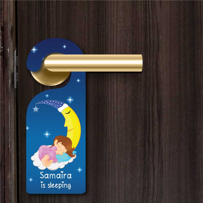 Baby Girl Sleeping Door Hanger