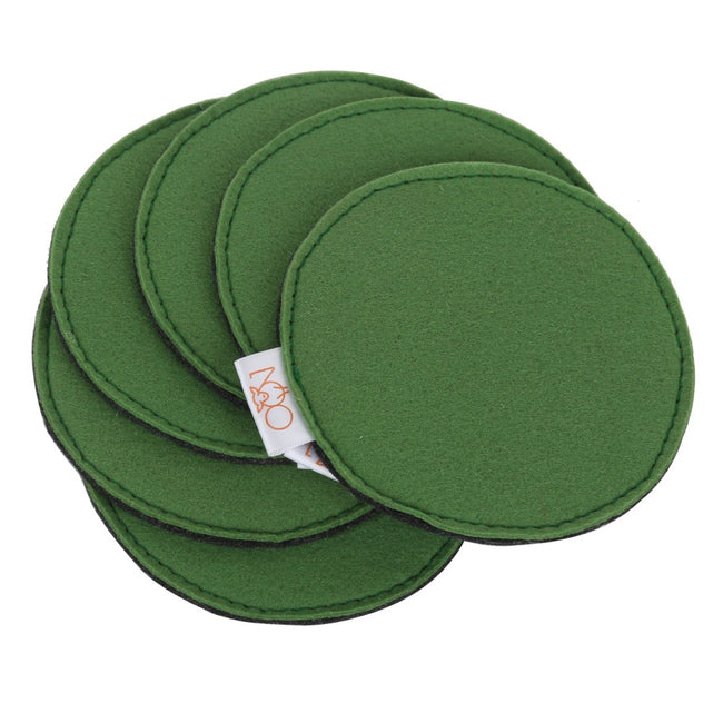 Tea Coasters Green (Set of 6)-Felt Series