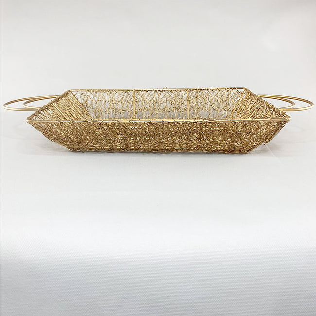 Golden Metal Mesh Tray