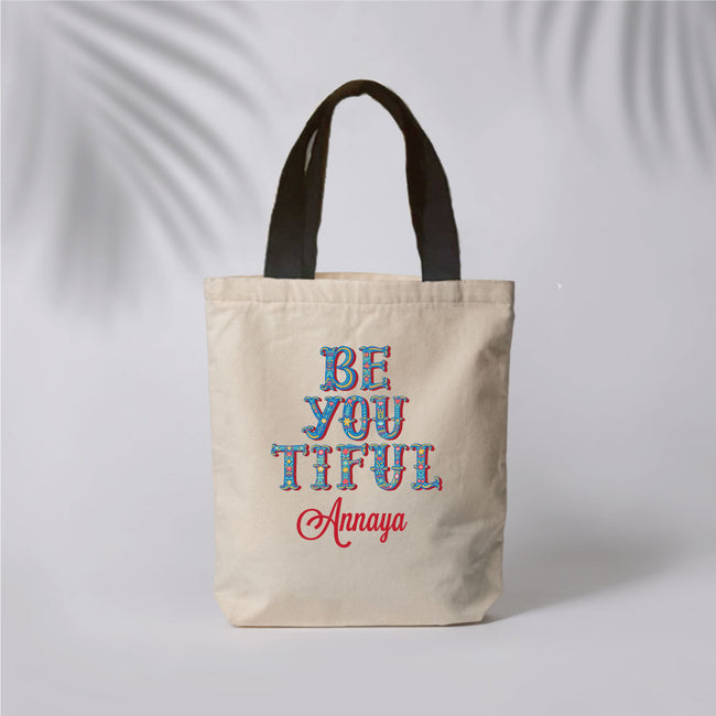 Be-you-tiful Canvas Tote Bag