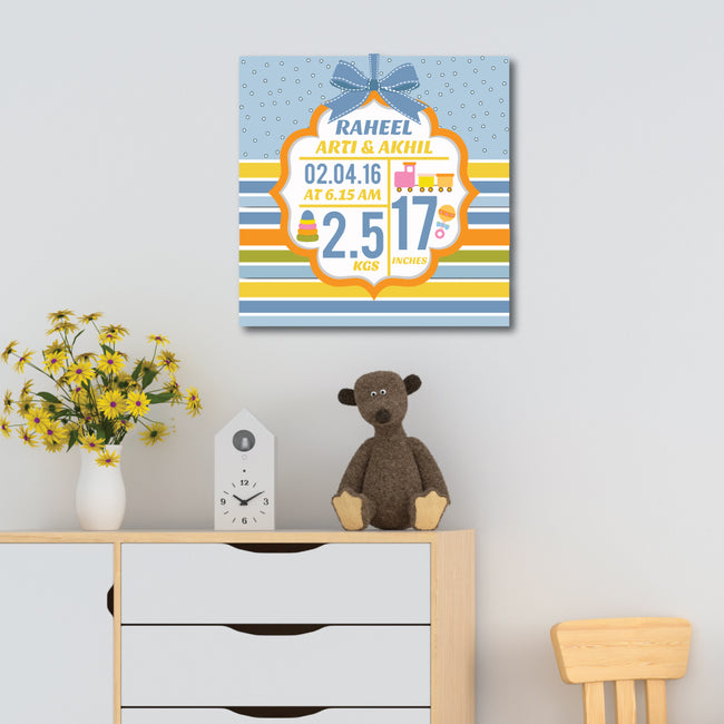 Birth Statistics Canvas Print