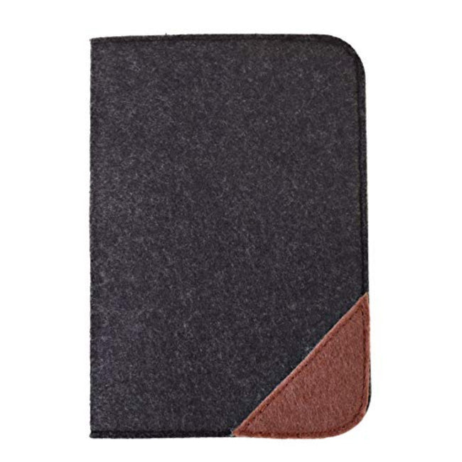 Felt Compact & Slim Passport Cover Black
