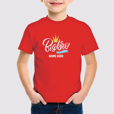 big bro personalized tees