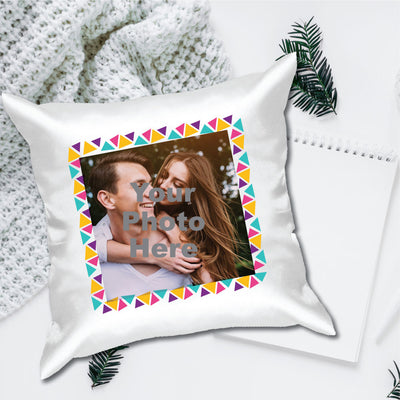 Color Frame Photo Cushion Cover