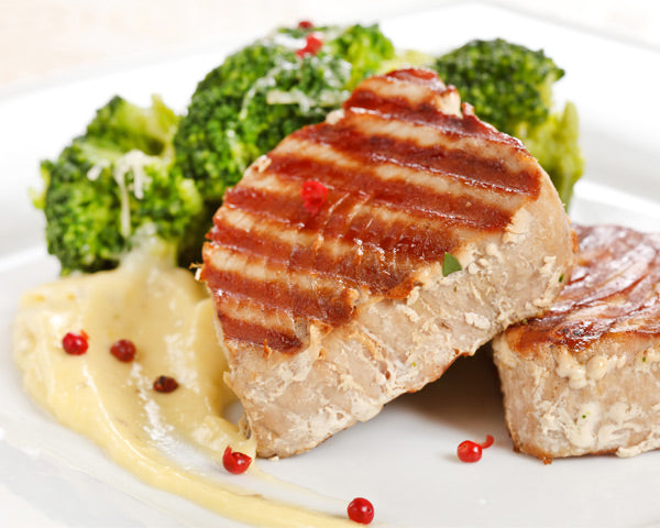 Healthy Griddled Tuna with Herbed Vegetables