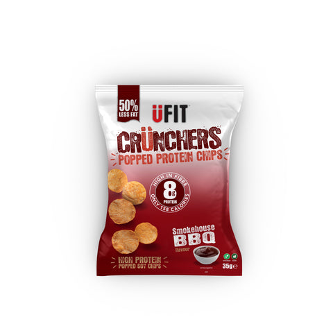 UFIT Crunchers High Protein Crisps - 11x35g Bags