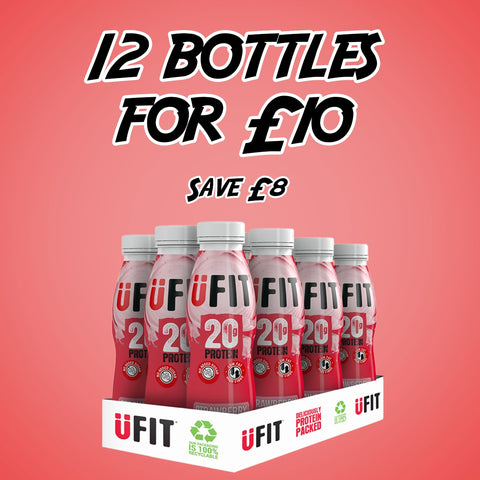 UFIT 20G STRAWBERRY - 12 BOTTLES FOR £10