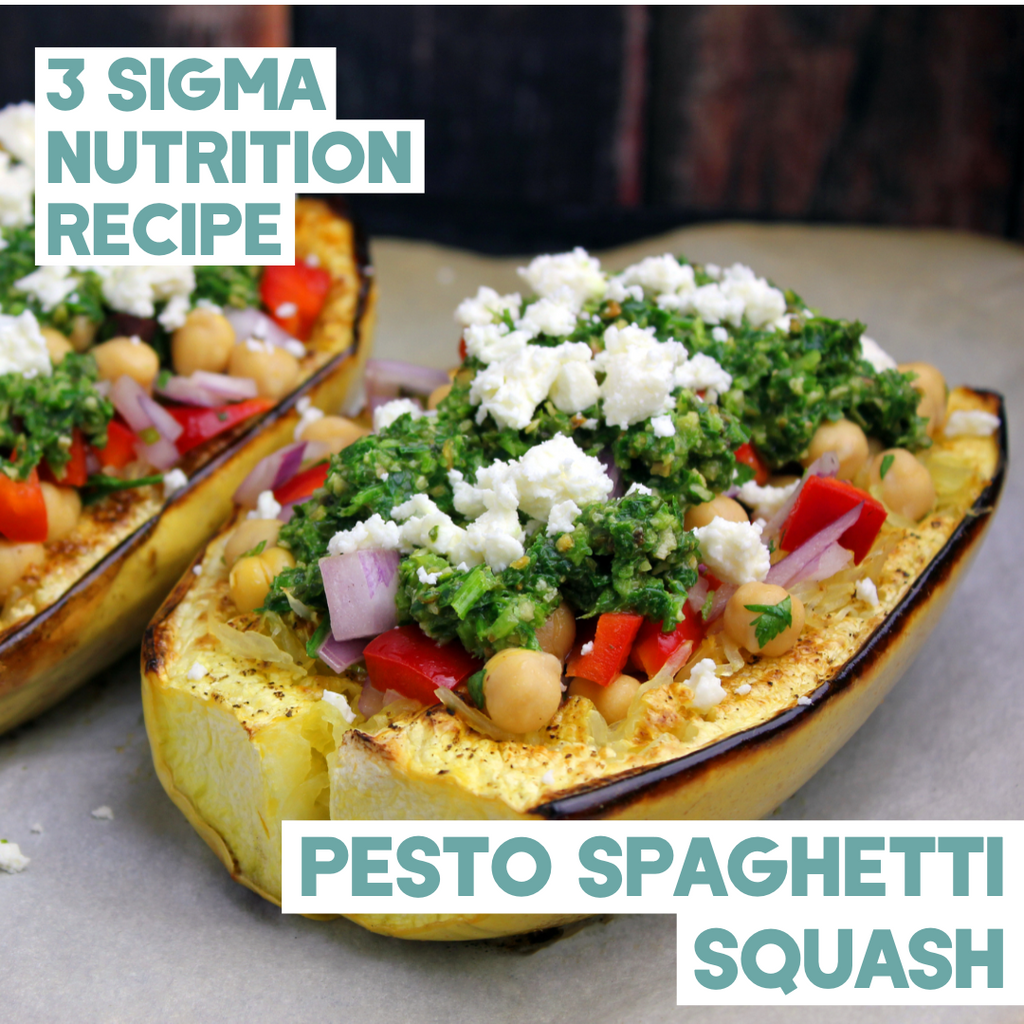 Pesto Spaghetti Squash 3 Sigma Nutrition Recipe
