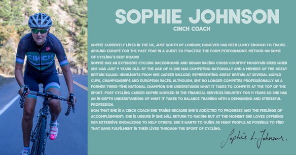 Sophie Johnson CINCH Cycling Coach