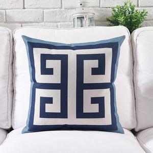Blue Hampton Cushion